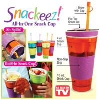 Jual Tempat minum + snack Snackeez all in one tumbler as seen on tv Murah