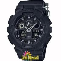 Jam Tangan Pria Casio G-Shock GA 100BBN 1AJF Black Resin Band (JDM)