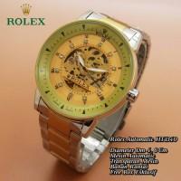 Jam Tangan Pria / Rolex Automatic ~ Transparan Mesin ~ Box Eklusif