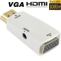 HDMI to VGA / D-SUB Converter Adapter Display Monitor With AUX Audio