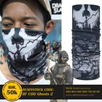 Buff Game Bandana Multifungsi Masker Call Of Duty - BF COD Ghosts 2