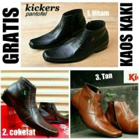 Jual Sepatu Formal Pria / Sepatu Pantofel Kickers Zipper Kulit Asli [FS-016 Murah