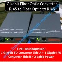 1 pair gigabit fiber optic converter - FO Converter rj45 single mode