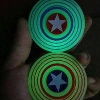 Jual Spinner Captain America Glow In The Dark Tameng Kapten Amerika Glow  Murah