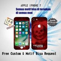 Garskin HP Apple Iphone 7 motif Skull Gear -motif bisa request