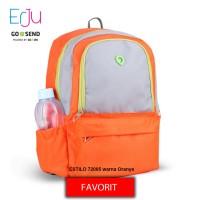Estilo Tas Ransel Wanita 720005 Laptop Sekolah Kerja Warna Orange