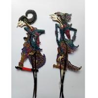 Miniatur Wayang Kulit Komojoyo Komoratih / Kamajaya Dewi Ratih 30x10