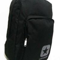 Tas Backpack Converse Black Hitam Grey Original Asli Murah