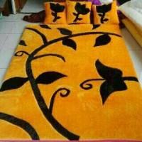 karpet karakter rasfur motif bunga / surpet lantai set biasa