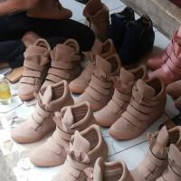 Jual sneaker wedges dalam - cappucino Murah