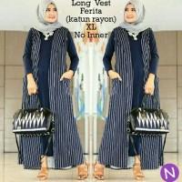 Jual long vest coat cardigan panjang hijab fashion Murah