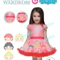 Jual dress anak princess tsum tsum besar Murah