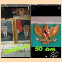 gambar/foto/bingkai presiden dan wakil presiden serta patung garuda