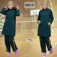 Baju Setelan OlahRaga Wanita Modern Believe Muslimah Sporty BMS 01 Top