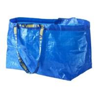 Jual IKEA FRAKTA Carrier Bag Large Blue /Tas Ukuran Besar Biru 55x35x37cm Murah