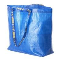 Jual IKEA FRAKTA Carrier Bag Medium Blue /Tas Ukuran Sedang Biru 45x18x45cm Murah