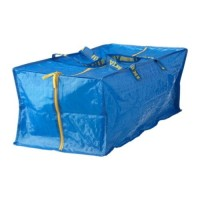 Jual IKEA FRAKTA Trunk for Trolley Blue / Tas untuk Troli Biru 73x35x30 cm Murah