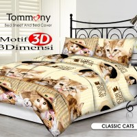 Tommony Bed Cover Single - Classic Cats
