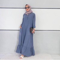 Gamis Cony Dress Baju Panjang Wanita Muslim Hijab Casual Modern Lucu