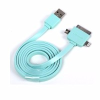 Jual PREMIUM KABEL DATA USAMS 3 in 1 Cable Universal Micro USB IP5S Micro Murah