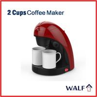 WALF 2 Cups Coffee Maker / Mesin Kopi 2 Gelas Mini