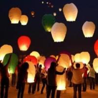 Jual lampion lentera terbang sky lantern new year tahun baru natal api fire Murah