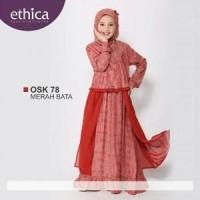 Baju Gamis Anak Ethica OSK 78 Merah Bata