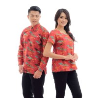 CPK142b Batik Couple Seragam Remaja Sarimbit Baju Kemeja Wanita Murah