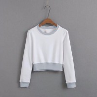 Della Crop T-Shirt Long Sleeve Sweater Okechuku / Tee High Waist Top