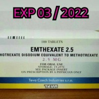 METHOTREXATE 2.5 MG EXP 12 / 2020