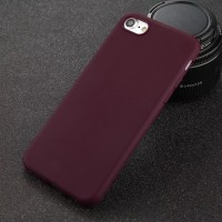 Jual iPhone 5/6/7/8/s plus Case Casing Merah Marun / Maroon Red Murah