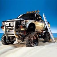 RC Mobil Remote Tamiya 1 10 Toyota Hilux High Lift 4x4 3Speed EP kit