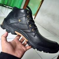 harga Sepatu Pria Boots Hitam Bahan Kulit Asli Grosir Murah Supplier Online Tokopedia.com
