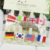 klip kertas / foto motif bendera Flag series clip photoskl014