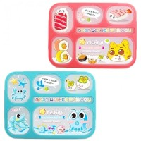 Grid Lunch Box Anak BPA Free Leak Proof 6 Sekat Yooyee