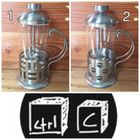 Jual French Press / Coffee Plunger (classic) 350ml Murah