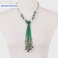 Jual Kalung Crystal Green Tassel Murah