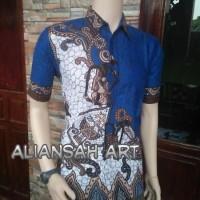 Jual LIMITED EDITION  kemeja batik wayang susun Biru Murah