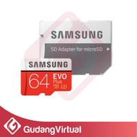 MicroSD Samsung Evo Plus 64GB 80MBs MicroSDXC SD 64 GB MMC Class 10