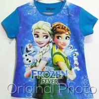 Jual Kaos Anak Karakter Frozen size 7-10 / Atasan anak / Kaos Anak Cewe Murah