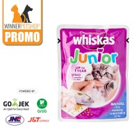 Whiskas Junior 85gr Pouch/ Sachet (1-12bulan)