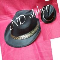 topi FEDORA warna hitam (import) aeb3ef5762