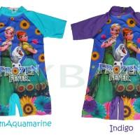 Baju Renang anak Gambar Frozen Ukuran Junior 2-4 Tahun