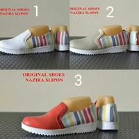 sepatu wanita terbaru original nazira casual slipon slop kets wedges