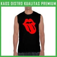 Kaos The Rolling Stones Tongue Logo 2 Singlet/Tanpa Lengan TPL-RTS05 P