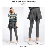 Jual Hot Luna Flare Skirt Legging(#819)/Celana Legging+Rok 2In1/Celana Rok Murah