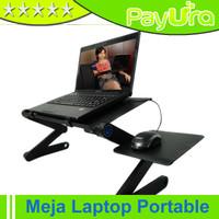 Jual Meja Laptop Portable Aluminium with cooler big fan mousepad Murah