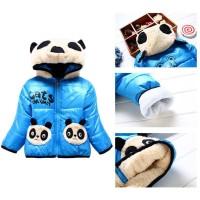 Jaket Mantel Winter Hoodie Anak Bayi laki-laki perempuan Desain Panda