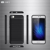 Shockproof Carbon Fiber Soft tpu For Xiaomi MI5s