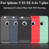 Shockproof Carbon Fiber Soft tpu For IPhone 5